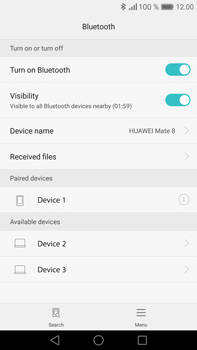 Huawei Mate 8 - Bluetooth - Pair with another device - Step 7