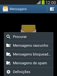 Samsung Galaxy Pocket Neo - SMS - Como configurar o centro de mensagens -  5
