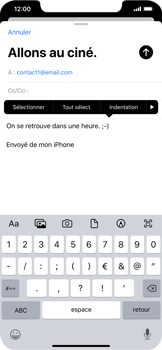 Apple iPhone XR - iOS 13 - E-mail - envoyer un e-mail - Étape 8