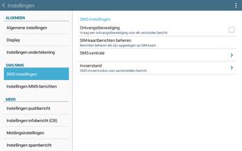 Samsung Galaxy Tab4 10.1 4G (SM-T535) - SMS - Handmatig instellen - Stap 9