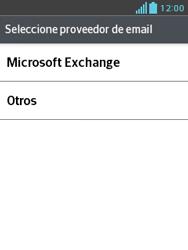 LG Optimus L3 II - E-mail - Configurar correo electrónico - Paso 5