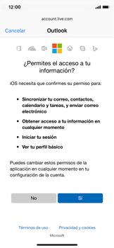 Apple iPhone X - E-mail - Configurar Outlook.com - Paso 8