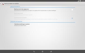 Sony Xperia Tablet Z2 4G (SGP521) - Instellingen aanpassen - Fabrieksinstellingen terugzetten - Stap 5