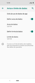 Motorola One Vision - Rede móvel - Como definir um aviso e limite de uso de dados - Etapa 13