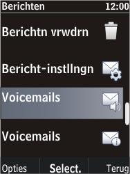 Nokia C2-05 - Voicemail - Handmatig instellen - Stap 5