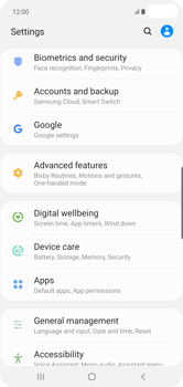 Samsung Galaxy S10 Plus - Device - Factory reset - Step 5
