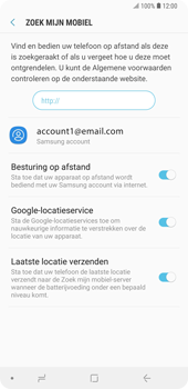 Samsung Galaxy Note9 - Beveiliging en privacy - Zoek mijn mobiel activeren - Stap 10