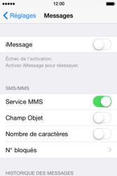 Apple iPhone 4s iOS 8 - MMS - Configuration manuelle - Étape 12