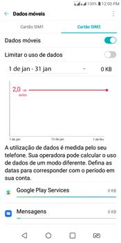 LG K12+ - Rede móvel - Como ativar e desativar uma rede de dados - Etapa 4
