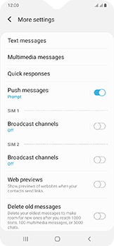 Samsung Galaxy A20e - SMS - Manual configuration - Step 8