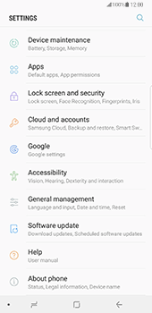 Samsung N950F Galaxy Note 8 - Device maintenance - Create a backup of your data - Step 4