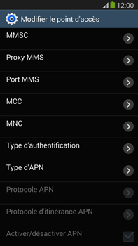 Samsung N9005 Galaxy Note III LTE - MMS - configuration manuelle - Étape 13