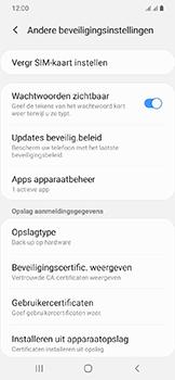 Samsung Galaxy A20e - Beveiliging - pas de pincode voor je simkaart aan - Stap 6