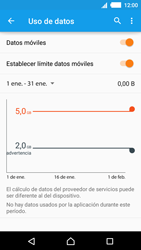 Sony Xperia M4 Aqua - Internet - Ver uso de datos - Paso 10