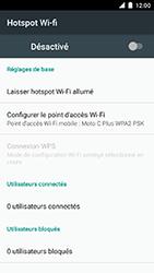 Motorola Moto C Plus - Internet et connexion - Partager votre connexion en Wi-Fi - Étape 7