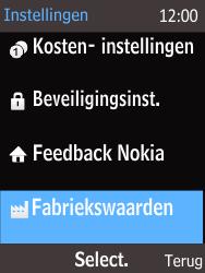 Nokia 225 (Type RM-1012) - Instellingen aanpassen - Fabrieksinstellingen terugzetten - Stap 4
