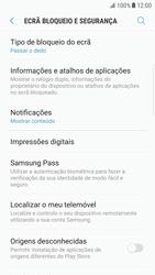 Samsung Galaxy S6 Edge - Android Nougat - Segurança - Como ativar o código de bloqueio do ecrã -  5
