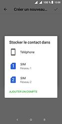 Alcatel 1 - Contact, Appels, SMS/MMS - Ajouter un contact - Étape 7