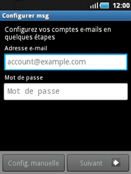 Samsung S5570 Galaxy Mini - E-mail - Configuration manuelle - Étape 5