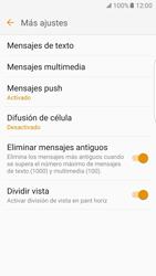 Samsung Galaxy S7 Edge - Mensajería - Configurar el equipo para mensajes de texto - Paso 7