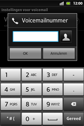Sony ST27i Xperia Go - Voicemail - Handmatig instellen - Stap 7