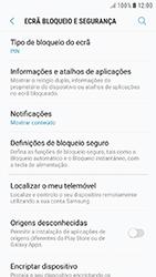 Samsung Galaxy A3 (2016) - Android Nougat - Segurança - Como ativar o código de bloqueio do ecrã -  12