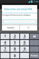 LG Optimus L5 - Segurança - Como trocar o código PIN do seu celular - Etapa 9