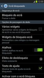 Samsung Galaxy S3 - Segurança - Como ativar o código de bloqueio do ecrã -  6