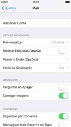 Apple iPhone iOS 10 - Email - Como configurar seu celular para receber e enviar e-mails - Etapa 4