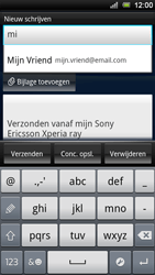 Sony Ericsson Xperia Ray - E-mail - e-mail versturen - Stap 5