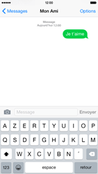 Apple iPhone 6 iOS 8 - Contact, Appels, SMS/MMS - Envoyer un SMS - Étape 9