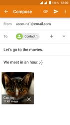 Crosscall Trekker M1 Core - E-mail - Sending emails - Step 16