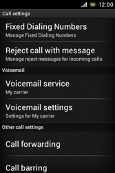 Sony ST21i Xperia Tipo - Voicemail - Manual configuration - Step 5