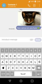 LG Q6 - Mensajería - Escribir y enviar un mensaje multimedia - Paso 18