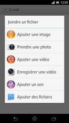 Sony C5503 Xperia ZR - E-mail - Envoi d