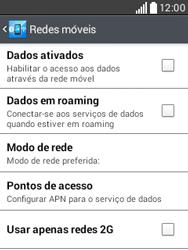 LG D100 L20 - Rede móvel - Como ativar e desativar uma rede de dados - Etapa 8