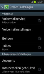 Samsung S7390 Galaxy Trend Lite - Voicemail - Handmatig instellen - Stap 6