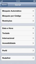 Apple iPhone iOS 6 - Funções básicas - Como restaurar as configurações originais do seu aparelho - Etapa 6
