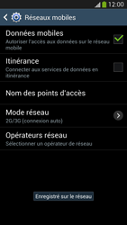 Samsung I9505 Galaxy S IV LTE - Réseau - Sélection manuelle du réseau - Étape 12