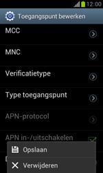 Samsung S7560 Galaxy Trend - Internet - Handmatig instellen - Stap 16
