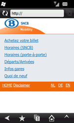 Samsung B7610 Omnia Qwerty - Internet - navigation sur Internet - Étape 12