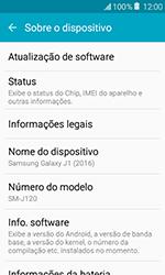 Samsung Galaxy J1 - Primeiros passos - Como encontrar o número de IMEI do seu aparelho - Etapa 5