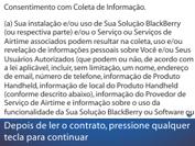 BlackBerry 9620 - Primeiros passos - Como ativar seu aparelho - Etapa 8