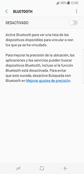 Samsung Galaxy S8 - Bluetooth - Conectar dispositivos a través de Bluetooth - Paso 6