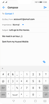 Huawei P20 Lite - Email - Sending an email message - Step 9