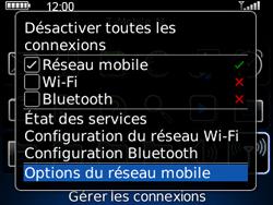 BlackBerry 8520 - Internet et connexion - Désactiver la connexion Internet - Étape 4