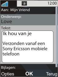 Sony Ericsson C903 - E-mail - Hoe te versturen - Stap 10