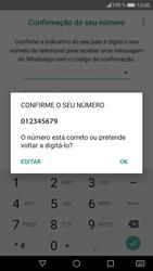 Huawei P9 Lite - Android Nougat - Aplicações - Como configurar o WhatsApp -  10