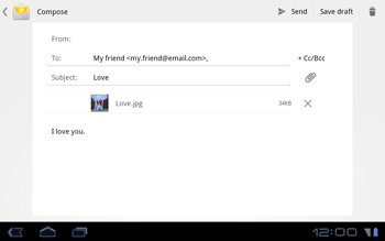 Huawei Mediapad S7-301u - Email - Sending an email message - Step 10