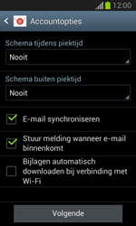 Samsung S7390 Galaxy Trend Lite - E-mail - e-mail instellen: IMAP (aanbevolen) - Stap 17